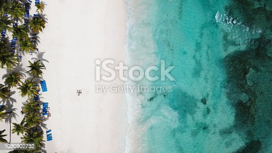 istock Sea Aerial view. Amazing nature background. The color of the water and beautifully bright. Aerial view of tropical island beach. 1030902732