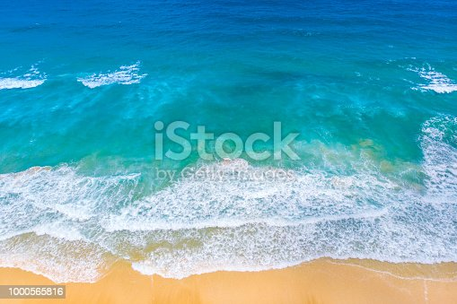 istock Sea Aerial view, Top view, nature background.sea and beach,Phuket,Thailand. 1000565816