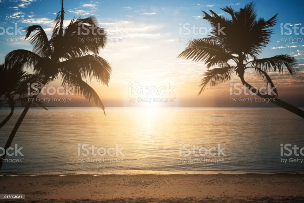 Sea Against Cloudy Sky During Sunset At Egypt stock photo