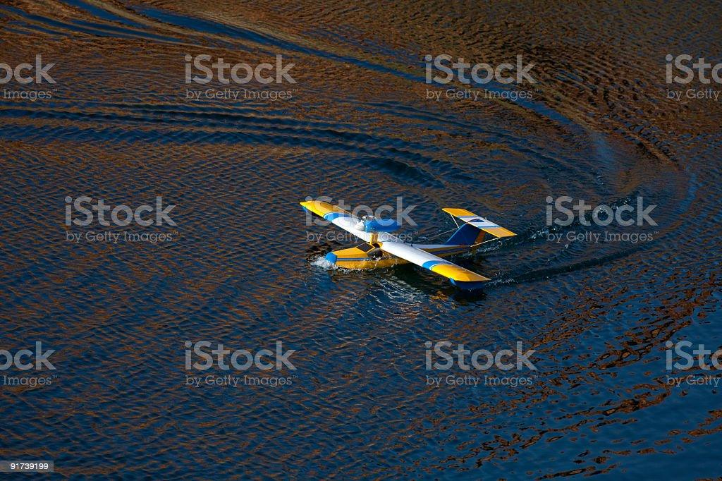 Sea airplane model. royalty-free stock photo