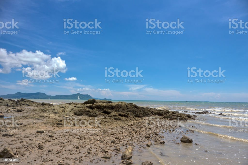 Sea and blue sky background. royalty-free stock photo
