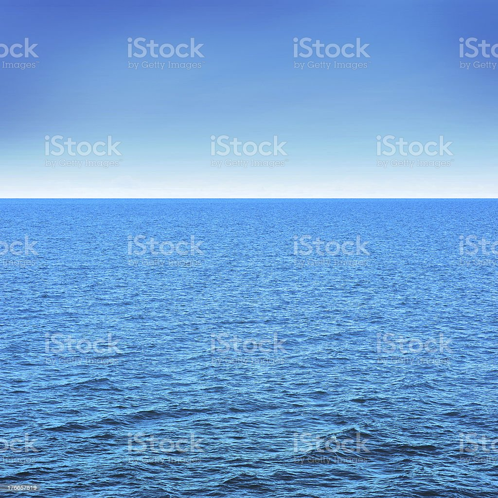 Sea and blue sky royalty-free stock photo