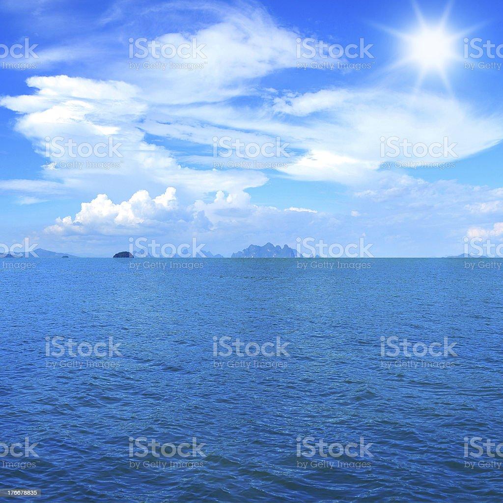 Sea and blue sky royalty-free stock photo