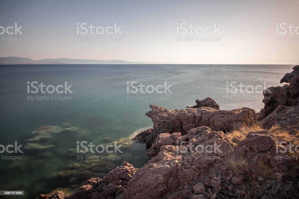 Sea and Cliff stock photo