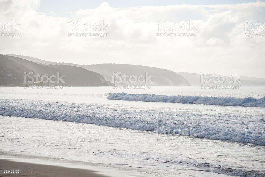 Sea and coastline summer landscape stock photo