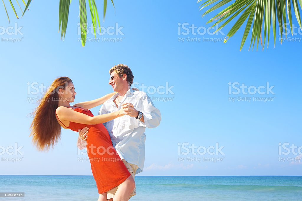 sea and dance stock photo