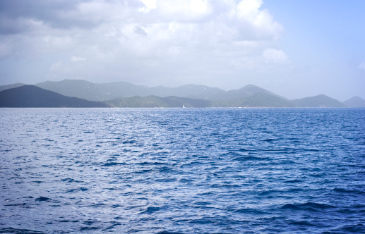 Sea And Hills In The British Virgin Islands Stock Photo - Download Image Now