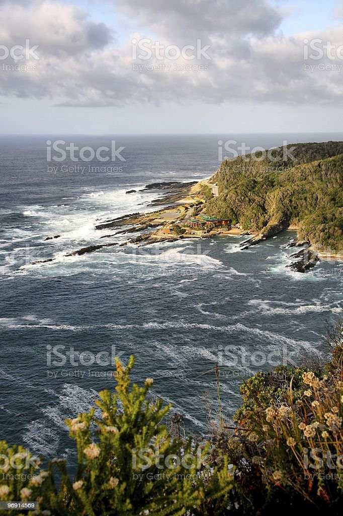 Sea and Mountain View royalty-free stock photo