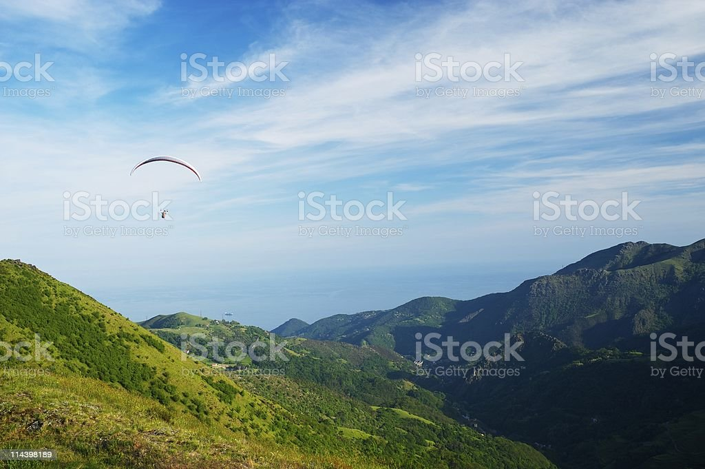Sea and mountains royalty-free stock photo