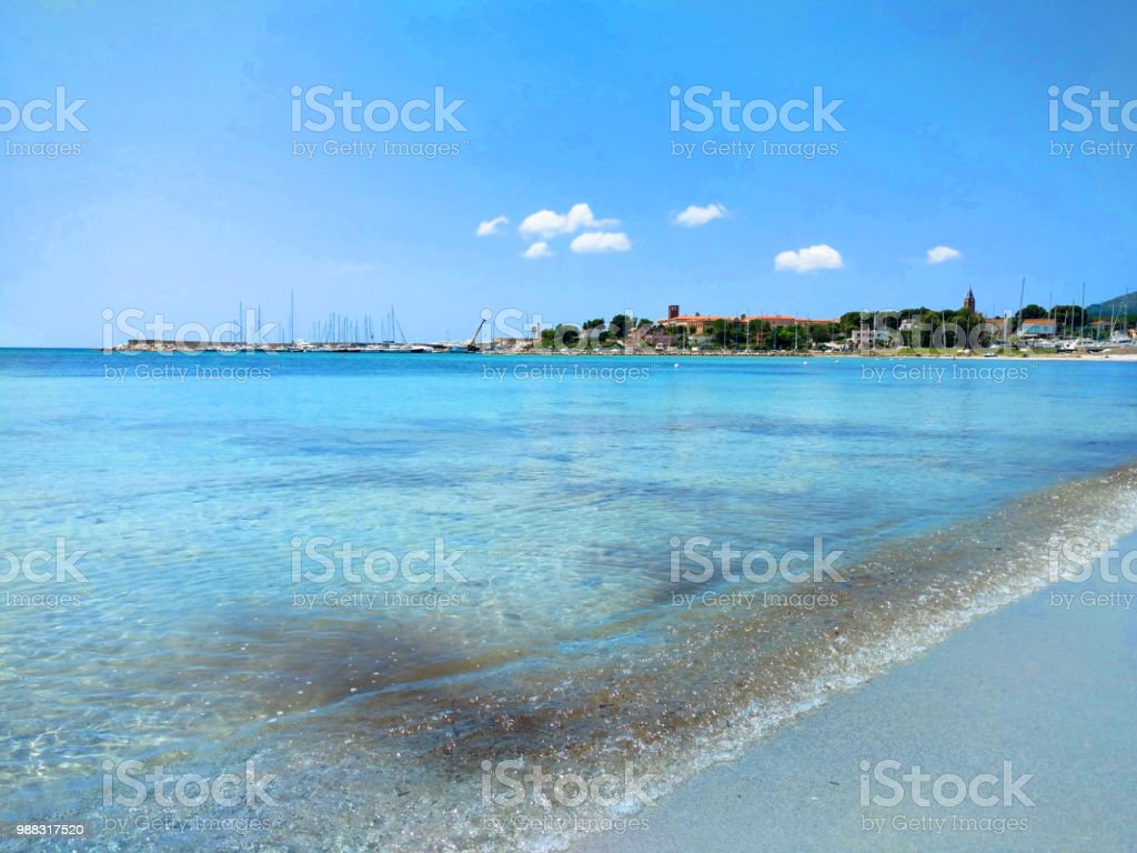 Sea And Panorama Of Fertilia In The Background Sardinia Italy Stock Photo Download Image Now Istock