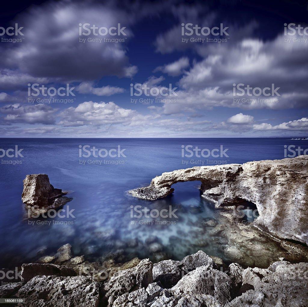 Sea and rocks royalty-free stock photo