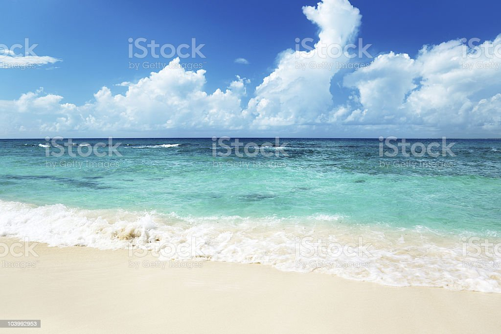 sea and sand royalty-free stock photo