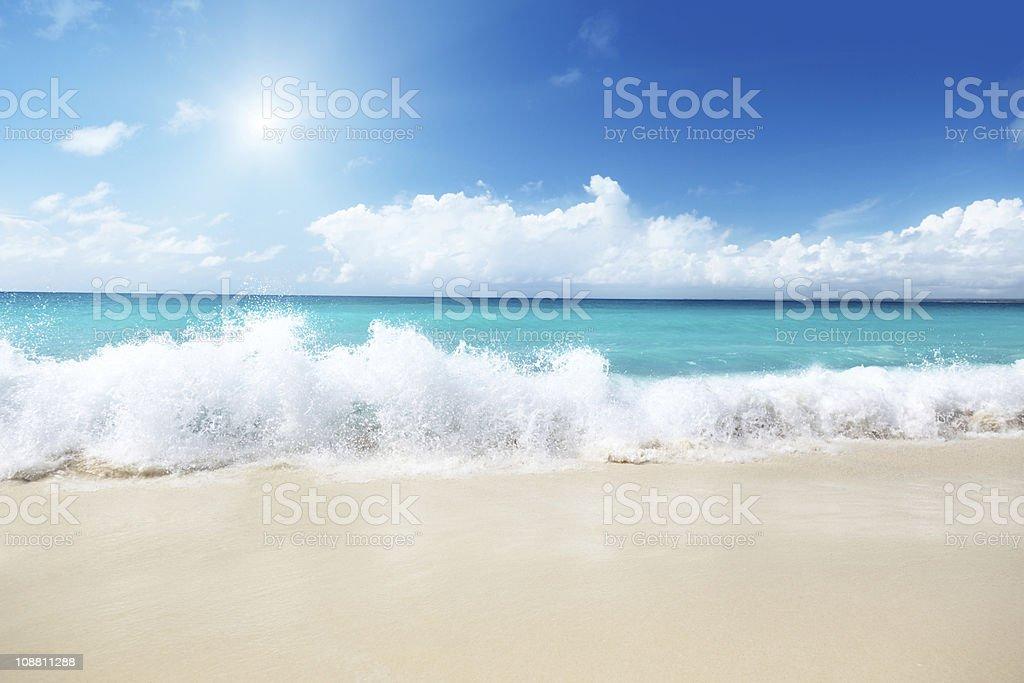 sea and sand stock photo