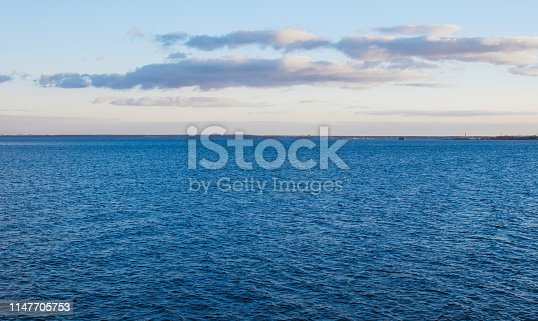 istock Sea and sky with clouds. 1147705753