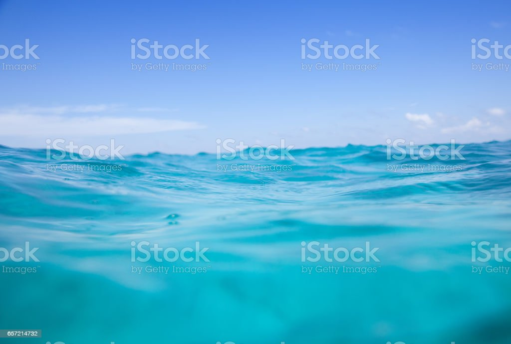 Sea And The Sky In Harmony - Cross Section stock photo
