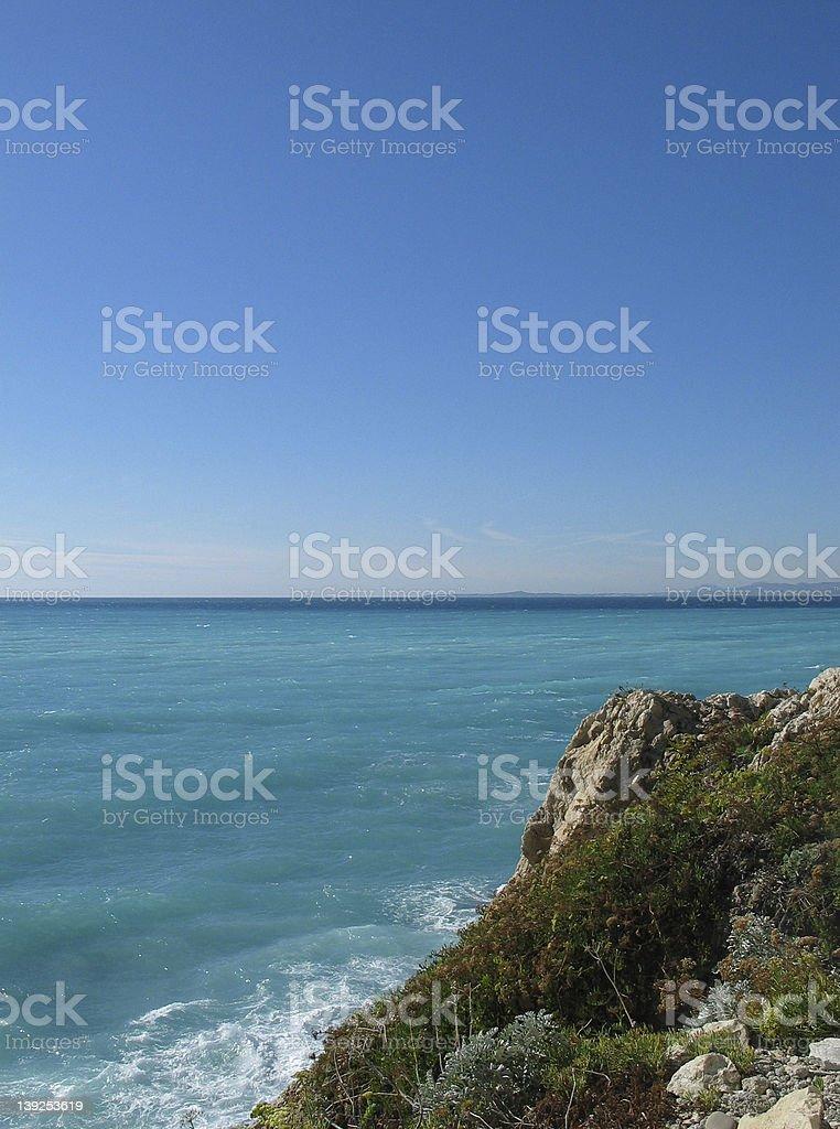 Sea at French riviera. royalty-free stock photo