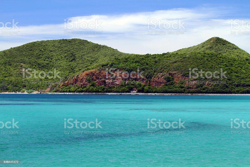 sea at the mountain stock photo