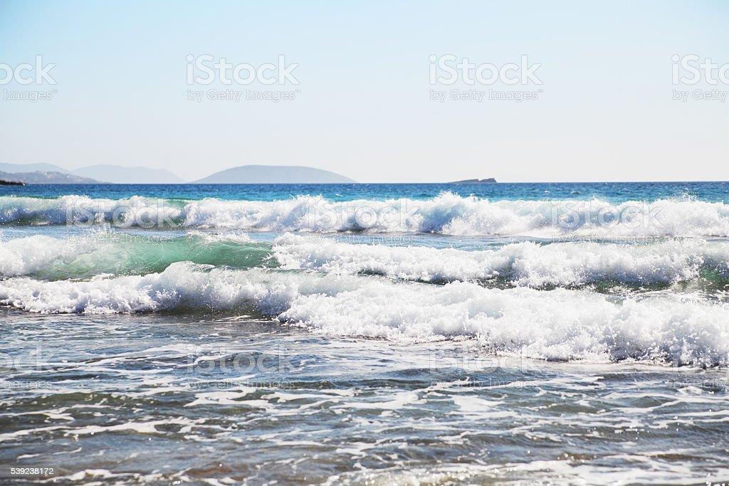 El mar de fondo de las olas y salpicaduras. foto de stock libre de derechos