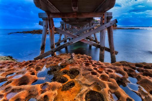 Sea Bare Under bridge blue dari
