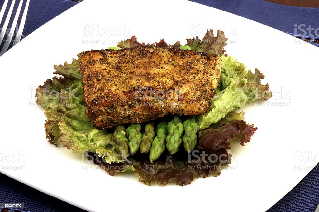 sea bass dinner royalty-free stock photo