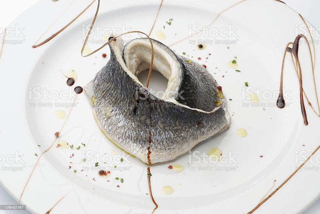 Sea Bass Fillet royalty-free stock photo