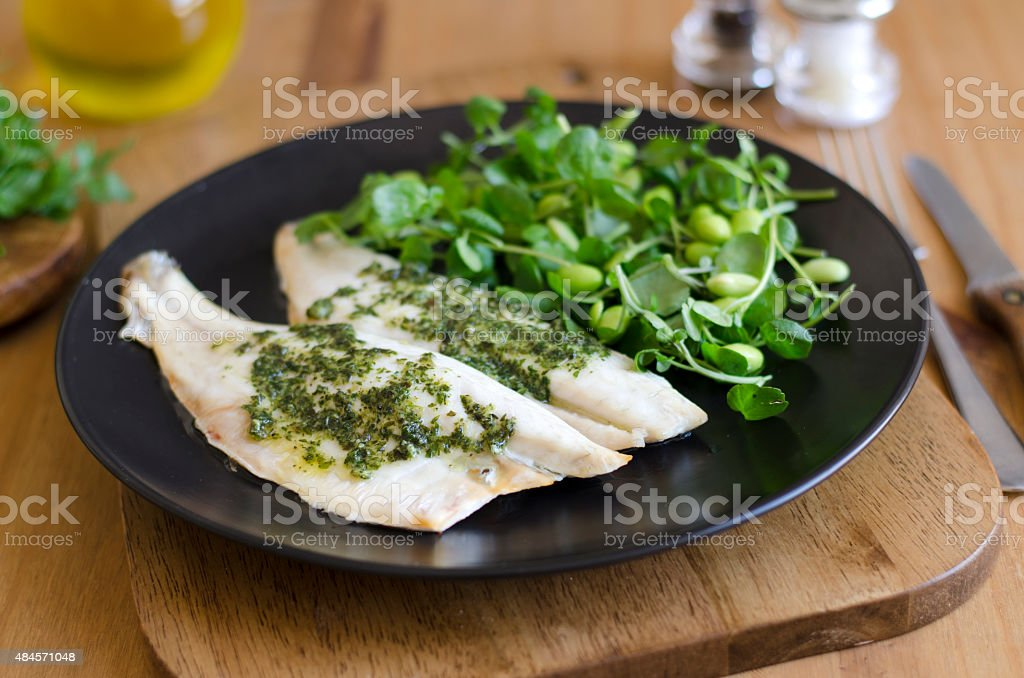 Sea bass fillets stock photo