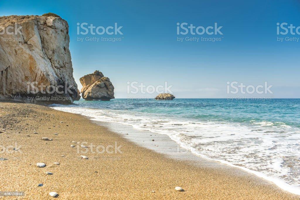 Sea bay and beach stock photo