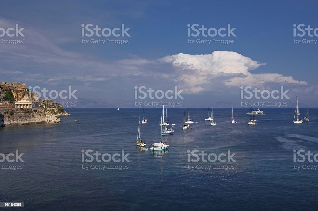 sea bay of Kerkira island. summer view royalty-free stock photo