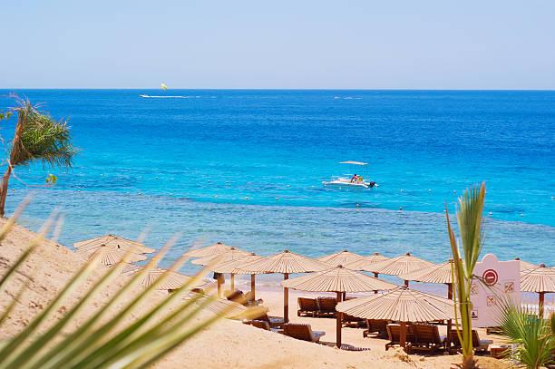 Sea beach paradise stock photo