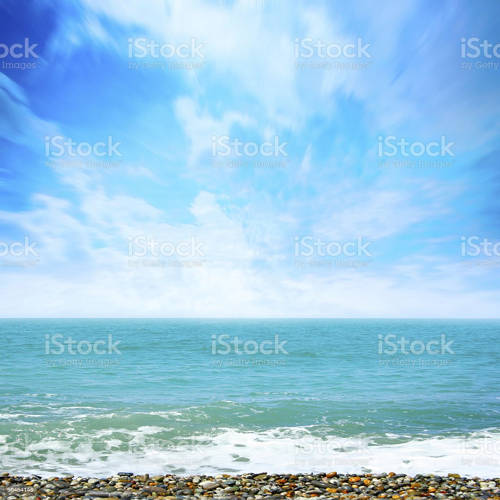sea beach royalty-free stock photo