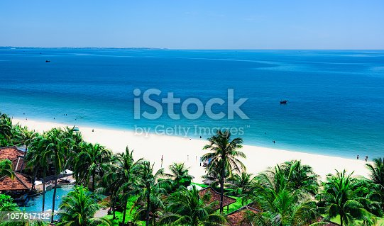 heavenly place to relax on the beach shore of the tropical sea