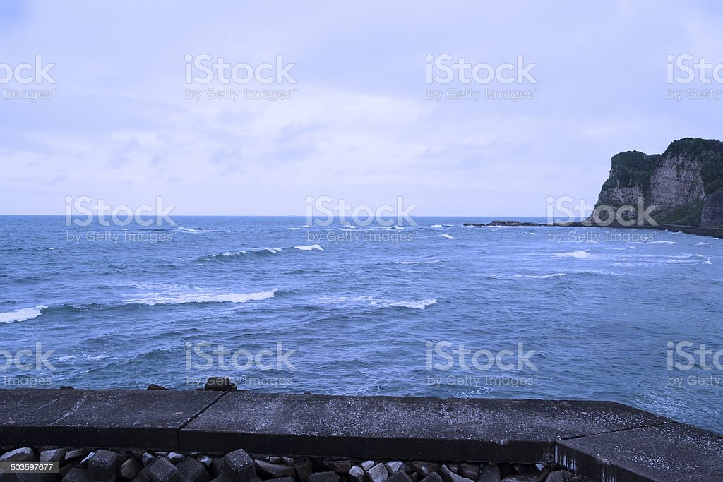 Sea before the storm with copy space royalty-free stock photo