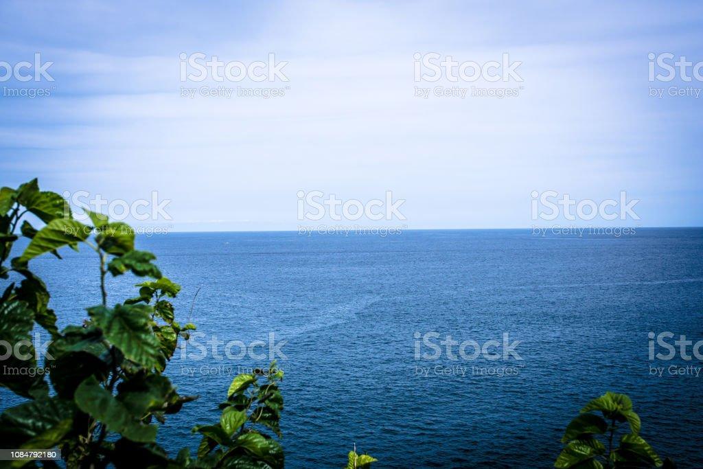Sea beyond the horizon stock photo