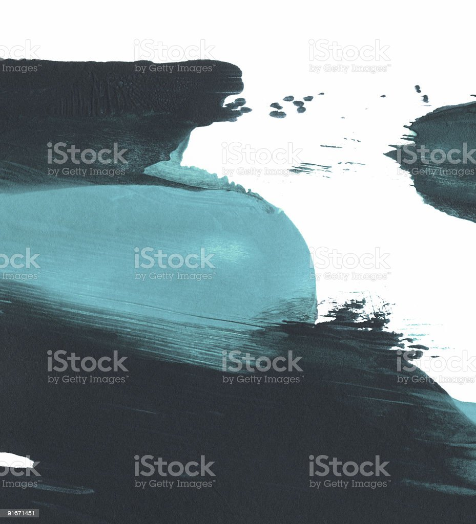 Sea Blue and Dark Colored Paint royalty-free stock photo