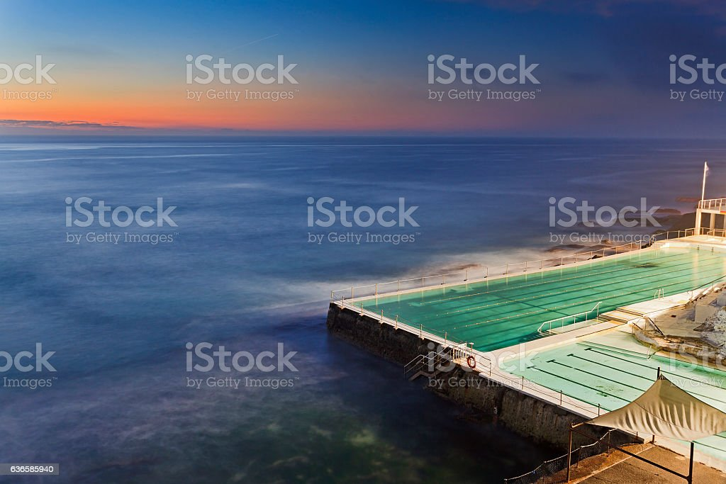 Sea Bondi Pool Dark stock photo