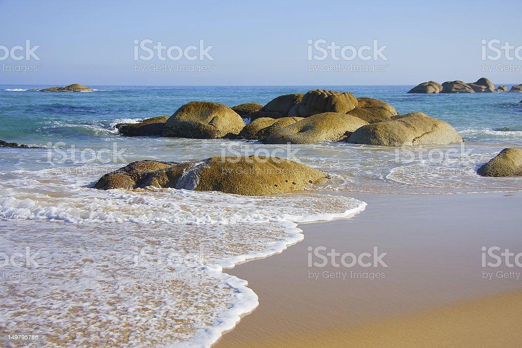 Sea Boulders stock photo