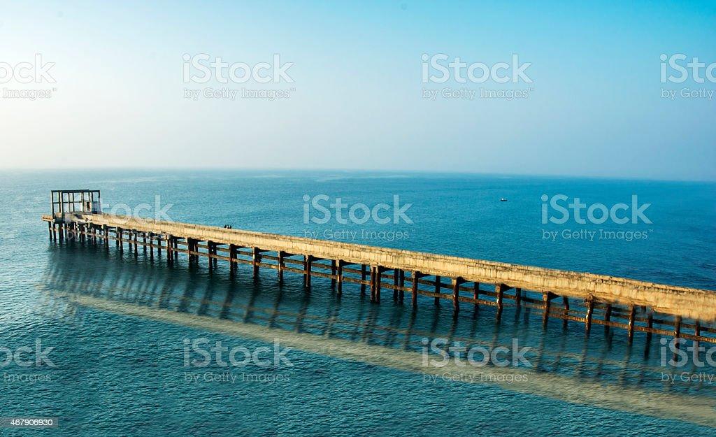 Sea Bridge stock photo