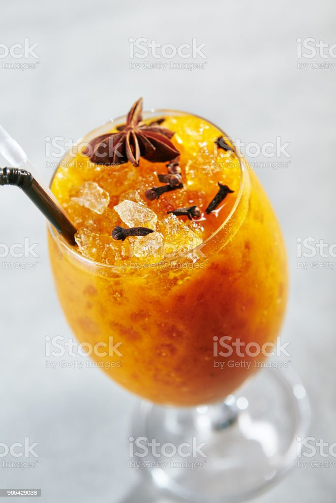 Sea Buckthorn Cold Lemonade royalty-free stock photo