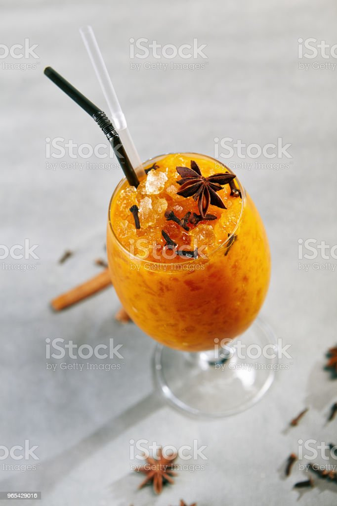 Sea Buckthorn Drink royalty-free stock photo