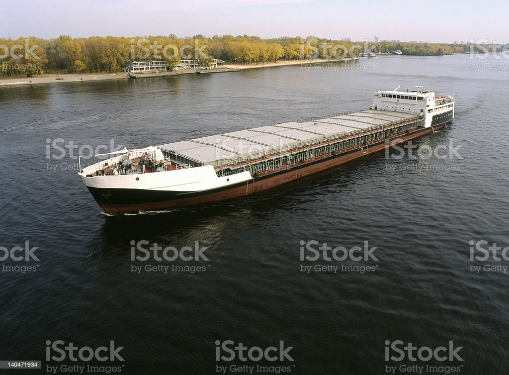 Sea cargo transportations stock photo