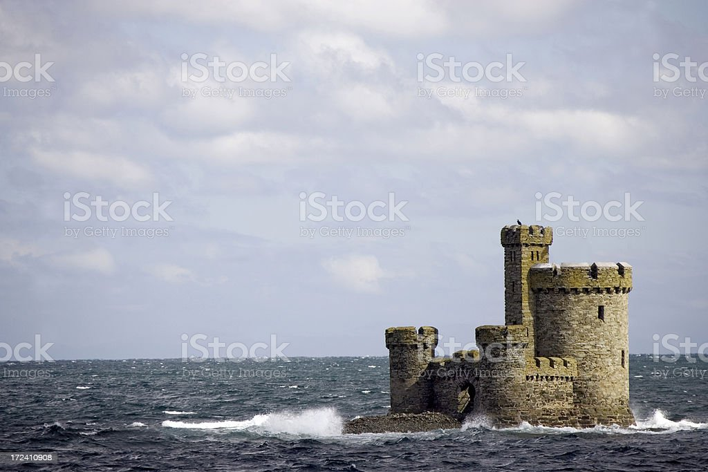 sea castle royalty-free stock photo