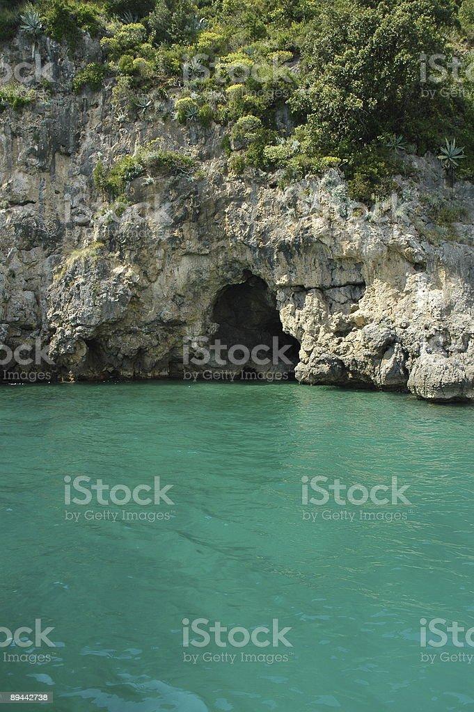 Sea Cave, Amalfi Coast, Italy. royalty-free stock photo