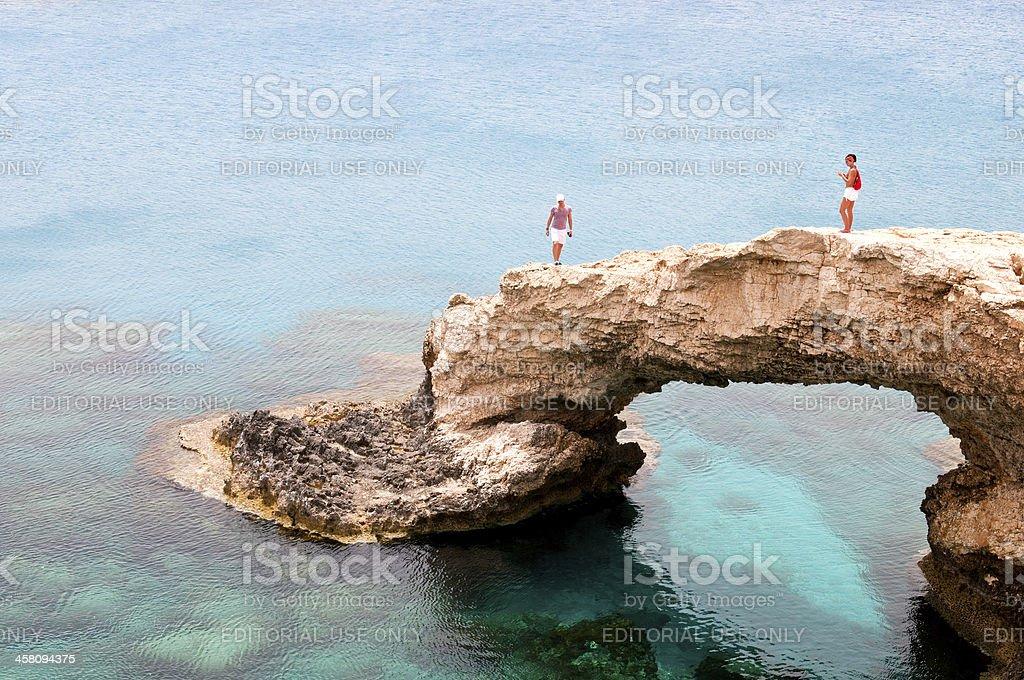 Sea caves  Cape Greco area in Cyprus stock photo