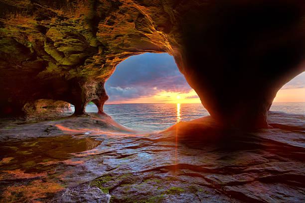 Sea Caves on Lake Superior
