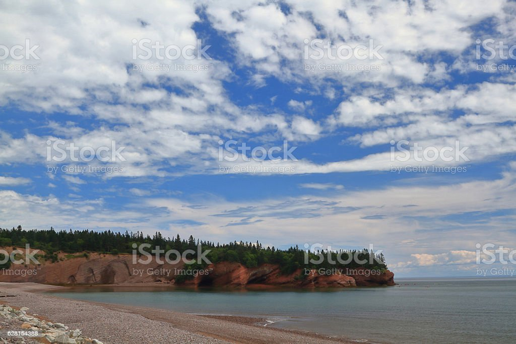 Sea Caves tourist site in St. Martins New Brunswick stock photo