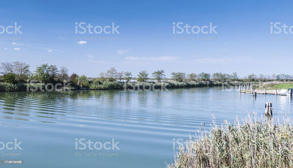 Sea channel waves royalty-free stock photo