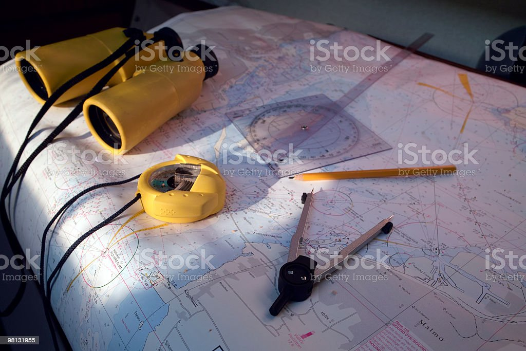 sea chart royalty-free stock photo