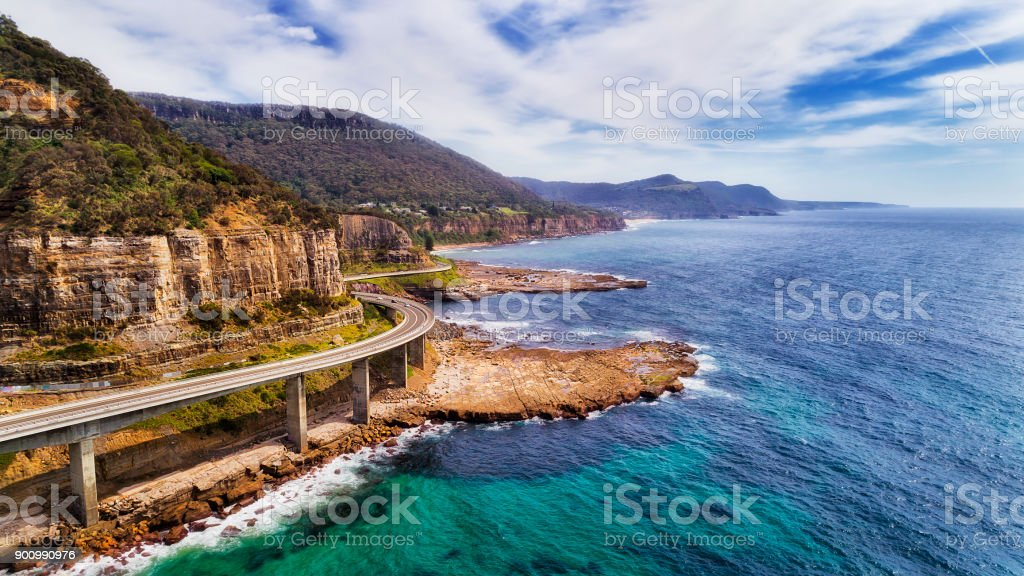 D Sea Cliff Bridge 2 Norh Side stock photo