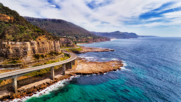 D Sea Cliff Bridge 2 Norh Side stock photo
