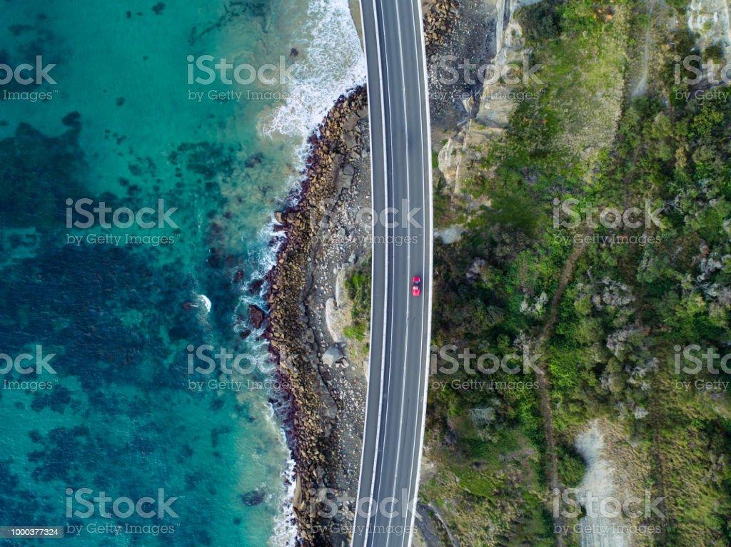 Sea Cliff Bridge Aerial stock photo